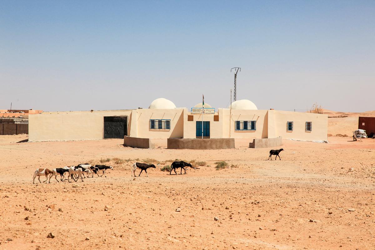 Le Ministère de la Planification et de la Reconstruction qui appartient à l'administration indépendante du camp de réfugiés Sahraouis à Rabouni