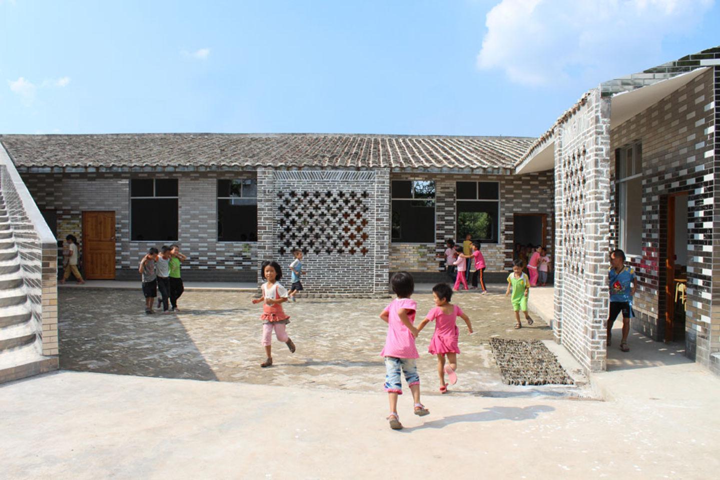 école primaire du village de Mulan dans la Province du Guangdong