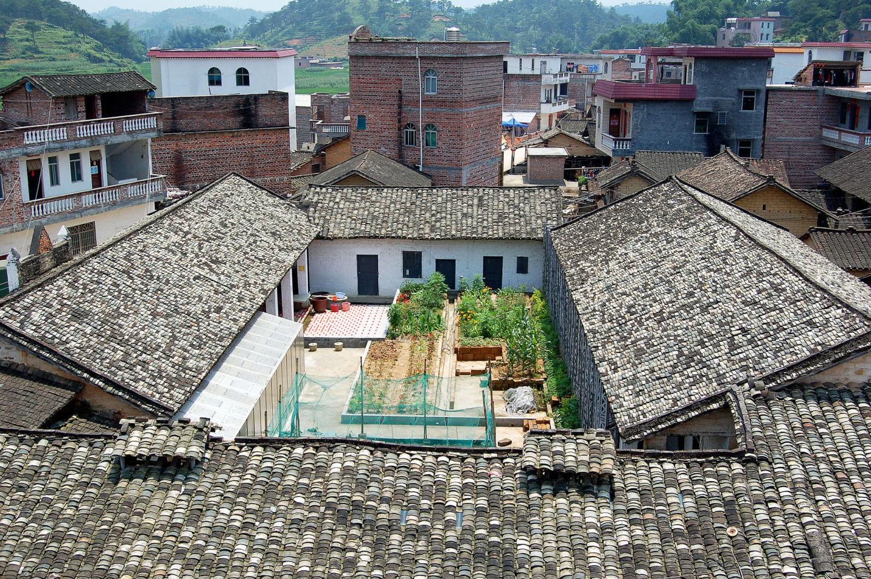 ancienne école primaire de Qinmo reconvertie en centre éducatif agro-écologique